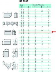 Pastilha Solda Poço Metal Duro Widea C- 8 8x5x3 10 Unidades