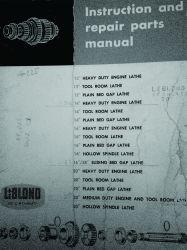 Manual De Instruções Do Torno Leblond Em Inglês