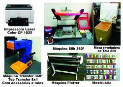 Equipamentos para confeccionar produtos personalizados copos canecas MDF tubetes canetas chaveiros sacolas etc...