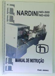 Cod0001 Manual Do Torno Nardini Nd 500 Nd 650 (usado)