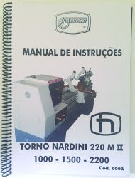 Cod0002 Manual Do Torno Nardini 220 M I I  - 1000 - 1500 - 2200 usado