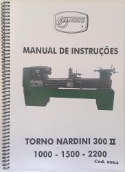 Cod0004 Manual De Instrução Do Torno Nardini 300 I I usado