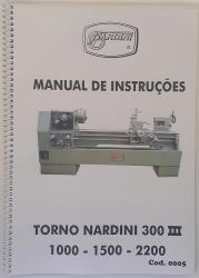 Cod0005 Manual De Instrução Do Torno Nardini 300 I I I usado