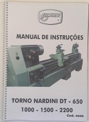 Cod0006 Manual De Instrução Do Torno Nardini Dt-650 -1000 - 1500 - 2200