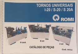 Cod0014 Manual Catalogo De Peça Torno Romi Universal I-20/s-20/s-20a