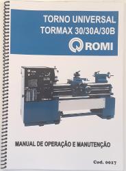 Cod0017 Manual de Operação e ManutençãoTorno Romi Univ. Tormax 30/ 30a /30b