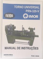 Cod0020 Manual De Intruções Do Torno Imor Prn-320 V