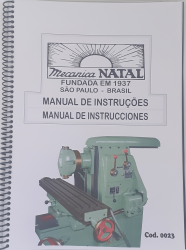 Cod0023 Manual De Instrução Da Fresadora Universal Natal