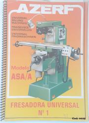 Cod0025 Manual De Instrução Da Fresadora Universal Azerf Asa/A