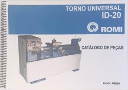 Cod0030 Manual Catálogo De Peças Do Torno Universal Romi Id 20